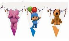Decoración para eventos infantiles, Banderín Pocoyo | PartyWeb.es