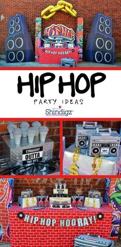 Take it old school with this Hip Hop party @greygreydesigns styled! All the details can be found on our party ideas blog!