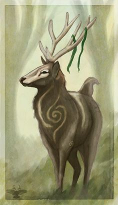 The Greenman, Cernunnos /Herne the Hunter... By Artist Unknown... Forest Spirit...