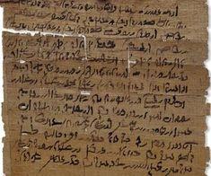 A loan agreement in Demotic script c. 200 BC (