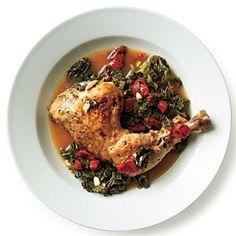Braised Chicken with Kale Recipe