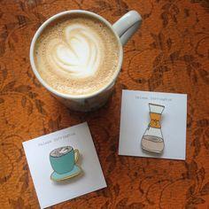 Chemex Coffee Pot Brooch by helenacarrington on Etsy