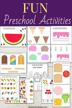Make learning fun with these amazing Preschool Activities! There's simple cut and paste activities, patterns, color by number, a look and find, tracing and more! #preschool Preschool Learning Activities, Preschool Worksheets, Fun Learning, Number Activities, Toddler Activities, Help Teaching, Cut And Paste, Make Birthday Cake, Kindergarten Age