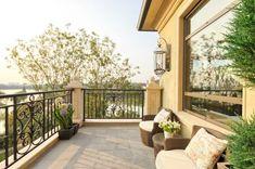 Difference Between Porch, Patio, Deck, Balcony & Veranda Outdoor Garden Furniture, Outdoor Rooms, Indoor Outdoor, Outdoor Living, Outdoor Decor, Outdoor Seating, Terrazo, Deck Stairs, Trellis Rug