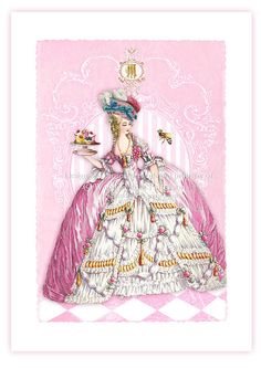 Marie Antoinette, print, pink home decor, French vintage decor, French…