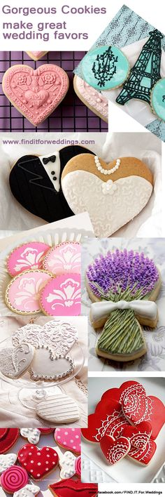#Cookies  for #wedding favors or #Valentines Day yummies
