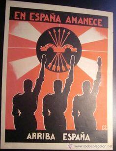 RARÍSIMO. UNO DE LOS PRIMEROS CARTELES DEL COMIENZO DE LA FALANGE. 1935. - Foto…