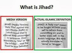 Jihad does NOT mean holy war! It is disgusting about the lengths used to demonize a faith/people, and how easily that demonizing is swallowed and believed to be true!