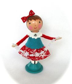 Christmas Clothespin Dolls by janpugs, via Flickr
