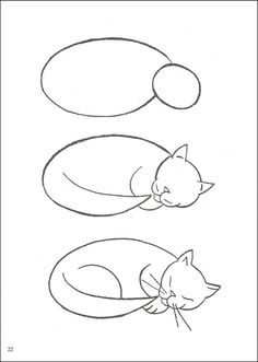 how to draw cats - Simple Drawing Pictures For Children