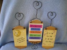 Cute Sayings with Wire Hanger Signs