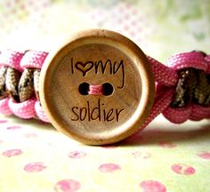I Love My Soldier -You Choose your Colors for a Custom Paracord Bracelet. $16.00 USD, via Etsy.