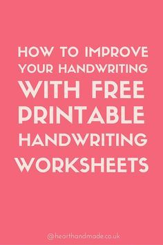 how to improve your handwriting as a grown up free sheets tips posts and handwriting. Black Bedroom Furniture Sets. Home Design Ideas