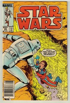 Star Wars The Alderaan Factor is the eighty-sixth issue in the Marvel Star Wars series of comics. What part of the galaxy do they come from? Han, Luke, and Leia better find out—or face total disaster! Star Wars Comic Books, Star Wars Comics, Marvel Comic Books, Clone Wars, Starwars, Science Fiction, Comic Book Publishers, Images Star Wars, 70s Sci Fi Art