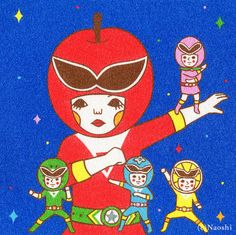 Art Print Fruits Sentai by Naoshi on Etsy