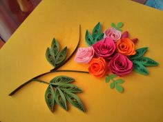 Paper quilled roses