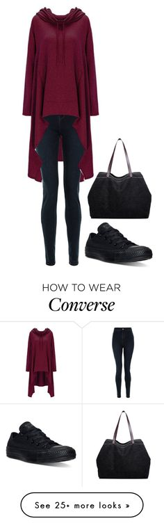 """#885"" by djnatca on Polyvore featuring New Look and Converse"