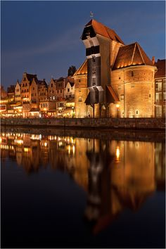 The Crane in old town Gdansk , Poland