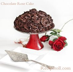 Chocolate Rose Cake With Chocolate Ganache