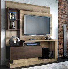 modular rack mesa tv-lcd-led 32 42 50 home living moderno Lcd Panel Design, Interior, Home, Tv Wall Design, Living Room Tv Unit Designs, Wall Tv Unit Design, Home And Living, Tv Wall Decor, Wall Unit