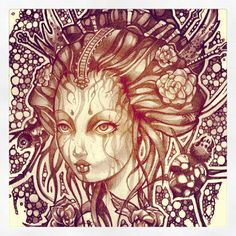 tim shumate illustrations | Tim Shumate Illustrations (Virus sketch. Graphite.)
