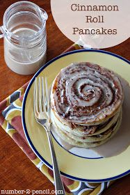 Cinnamon Roll Pancakes Substitute flour for almond and brown rice flour  Greek yogurt for sour cream Almond milk for regular milk Honey for white sugar  Possibly applesauce for butter but haven't tried it yet