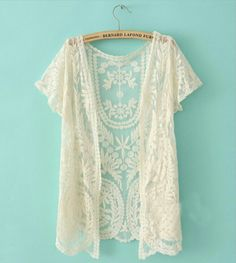 We see you decided to take a peek at our year round best seller!  This one size kimono is covered with dainty-sheer mesh, featuring crochet embroidery throughout. The scalloped trim will have others swooning with how effortlessly boho chic you'll be looking! Can't decide which color you love more?
