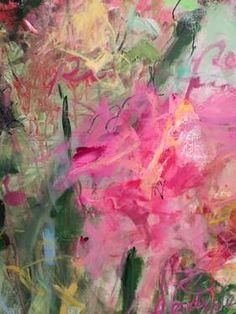 "Artist: Sandy Welch; Acrylic 2015 Painting ""Peony"""