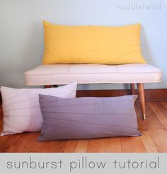 Sunburst Pillow Tutorial - Sewtorial