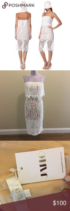 NWT Jarlo London (US Size 2) Ira Dress Ivory/Nude NWT Jarlo London (US Size 2) Ira Dress Ivory/Nude Jarlo London Dresses Midi