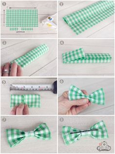 DIY No Sew Bow Tie. Super quick and easy. Hot glue might be cheating, but I don't care. :)