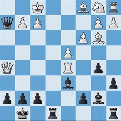 Here's this week's Tuesday Tricky #chesspuzzle. See if you can find checkmate in two moves. Try to find a mate in two moves.  Black to move.
