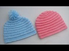 Gorrito con punto puff crochet - YouTube