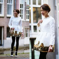 lookbookdotnu:  A painting on my dress  (by Virgit Canaz)