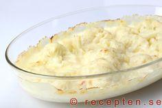 Blomkålsgratäng - Recept på blomkålsgratäng. Innehåller nästan inga kolhydrater. Mycket god och enkel att göra. Med bilder steg för steg!