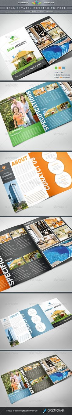 Real Estate / Housing Trifold  #GraphicRiver        Item Specifications: