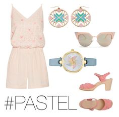 """""""Pastel Outfit"""" by blaireswift ❤ liked on Polyvore featuring Maje, Grayson, Fendi, Kate Spade and Swedish Hasbeens"""