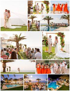 Amazing tropical themed wedding in Crete, villa wedding in Rethymno Crete, Real Weddings, Wedding Planner, Photo Wall, Villa, Tropical, Table Decorations, Amazing, Image