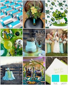 green and teal