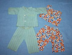 Two Jumpsuits for Composition Dolls 1930s