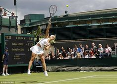 Sabine Lisicki rejected the chance to wear the flimsy Premier Slam outfit as it showed off a bit too much - Wimbledon June 27, 2016