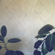 Natural white, ecru colour. Wall coverings ideas. Handmade tiles. Beautiful idea for homedecor.