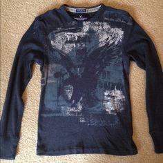 American Eagle Men's Vintage Shirt Navy American Eagle Vintage fit. American Eagle Outfitters Tops Tees - Long Sleeve