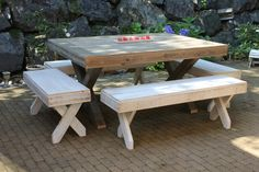 Harvest Table Reclaimed Pallet Rustic Distressed Dining