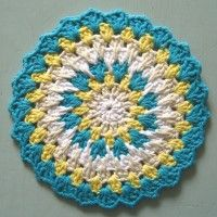 Mine! :). Crochet Mandala Wheel made by Jessica, USA, for yarndale.co.uk.