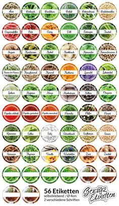 Also lost the overview of your spices? With these 56 photo stickers you bring order to your spice rack ! - Robin is Life