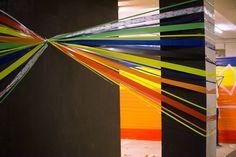 Tape Art Workshop der hKDM Freiburg Tape Art, Workshop, Freiburg, Atelier