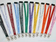 Clear Prospects British made lanyards.  Various colours.  Pure silk.  Optional safety break.  90cm standard length but other lengths possibl...