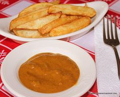 Chips & Curry Sauce - a favorite from the chipper in Ireland and England