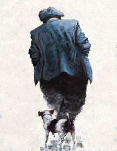 One Man & His Dog by Alexander Millar - Contemporary Paintings & fine art pictures available in our gallery - Free delivery on all orders over Art Pictures, Photos, Art Addiction, Human Art, Art Uk, Naive Art, Jack Russell Terrier, Contemporary Paintings, Figurative Art